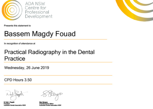 Practical Radiology for  for the General Dentist Certificate-10